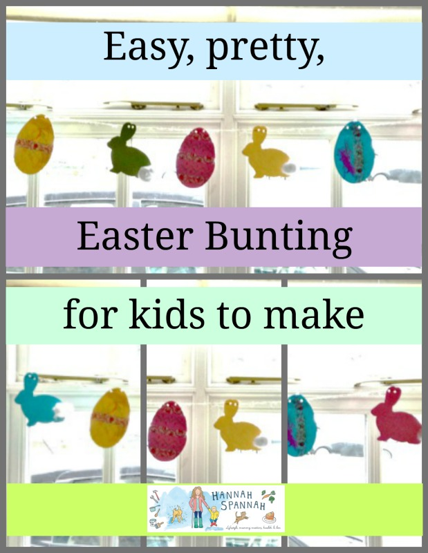 Fabulous, Easy, Pretty Easter Bunting for Kids to make