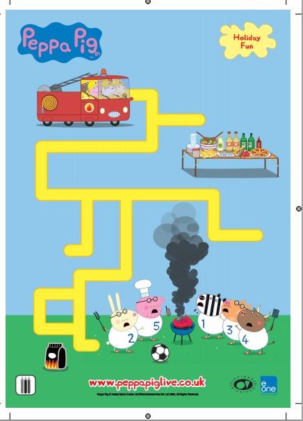 Peppa Pig Free Printable Maze