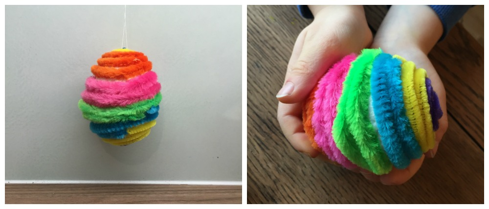 Easter craft idea's fun fuzzy eggs
