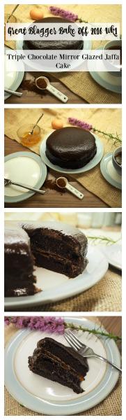 Triple Chocolate Mirror Glazed Jaffa Cake pin
