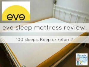 eve sleep mattress review 100 sleeps keep or return. Black Bedroom Furniture Sets. Home Design Ideas