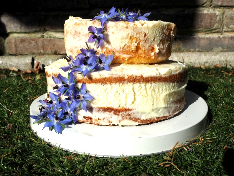 Bake Off Botanical Naked Cake