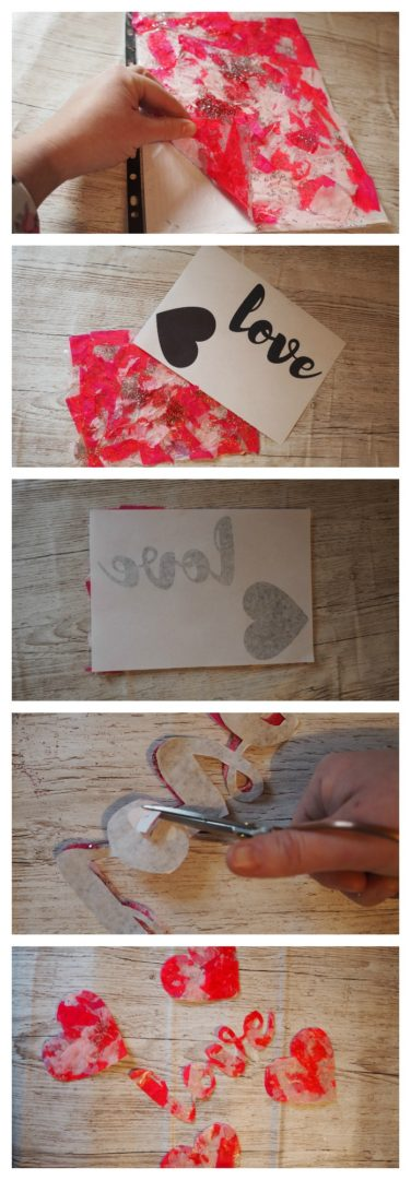 How to make heart suncatchers - valentines for kids