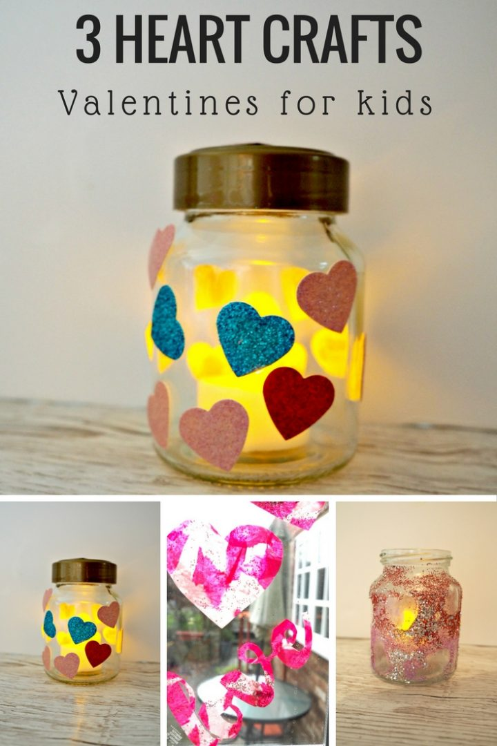 3 Beautiful Heart Crafts to help you celebrate Valentines Day with kids