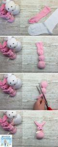 We love any excuse to make something cute but my son particularly likes our family of No-Sew Easter Sock Bunnies. Click through for the full tutorial and video
