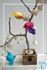 For this month's craft, we decided to make a pretty little flying bird. It's easy peasy & they look great so we made more! Pretty Little Flying Hanging Birds