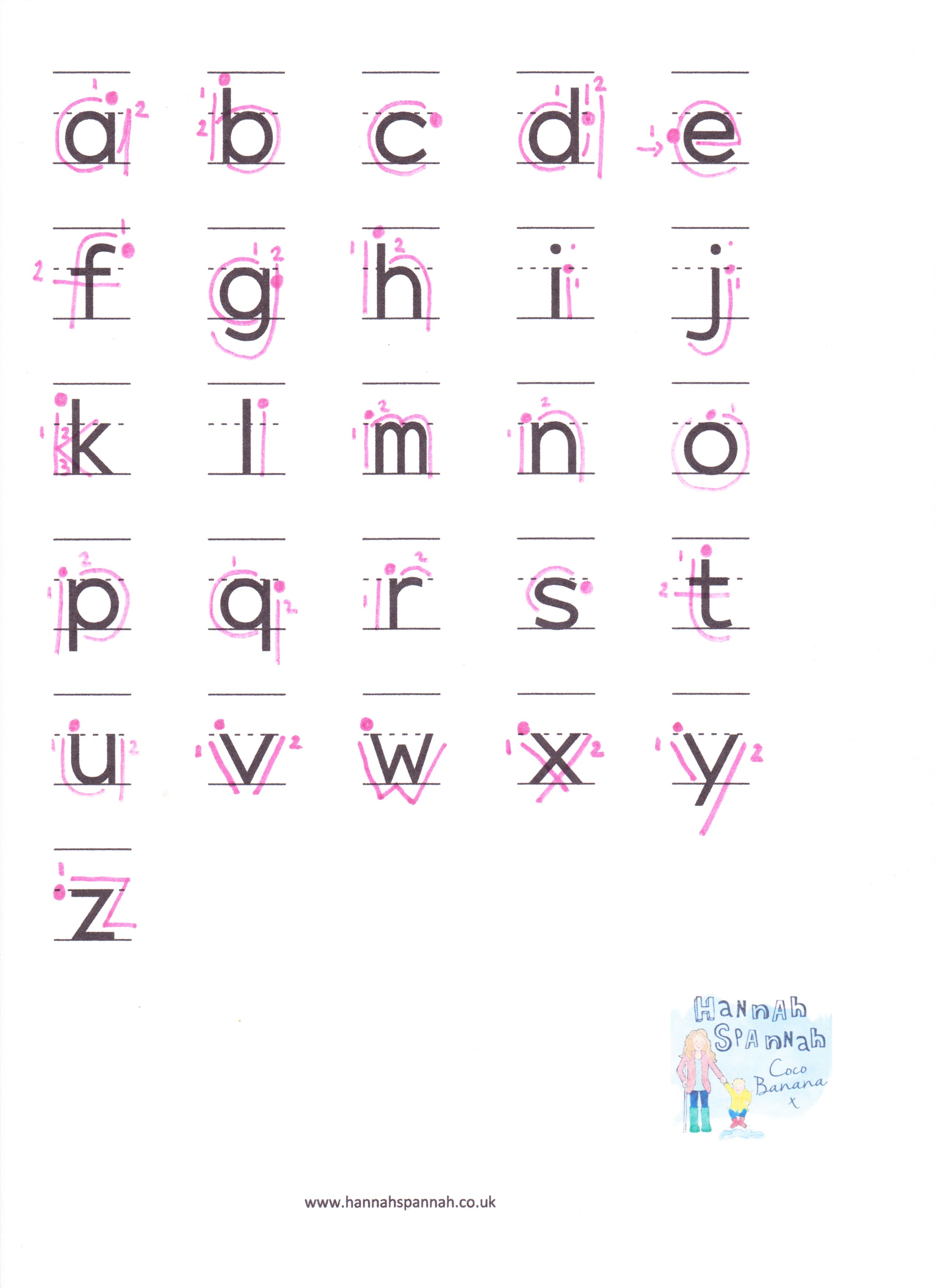 Worksheet Writing Alphabet alphabet writing sheet lowercase