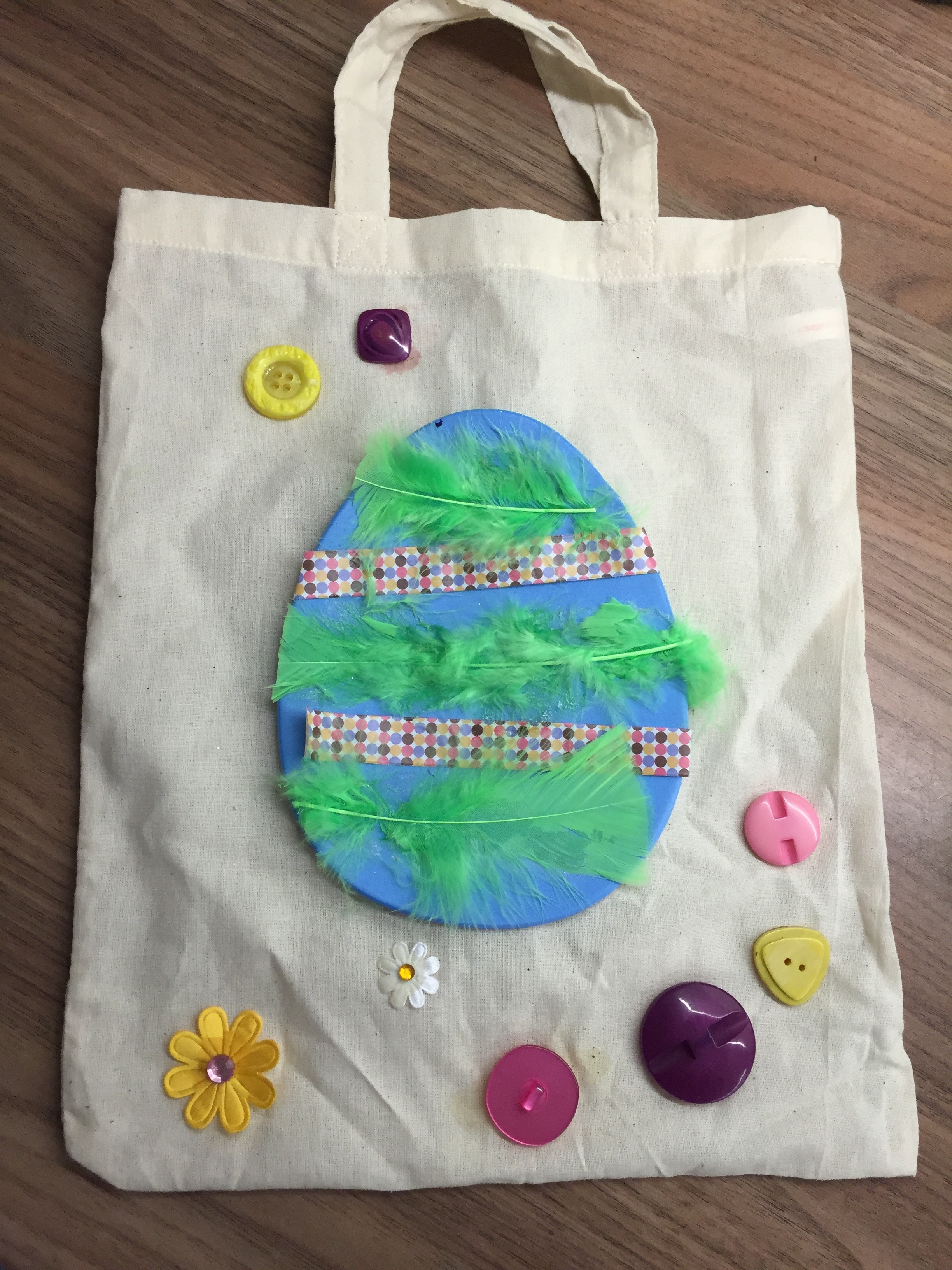 Easter Craft Idea's easy tote bag