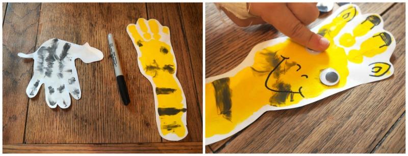 animal handprints