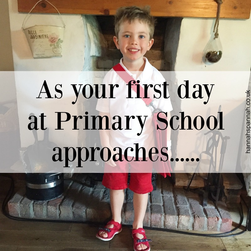 as you first day at primary school approaches
