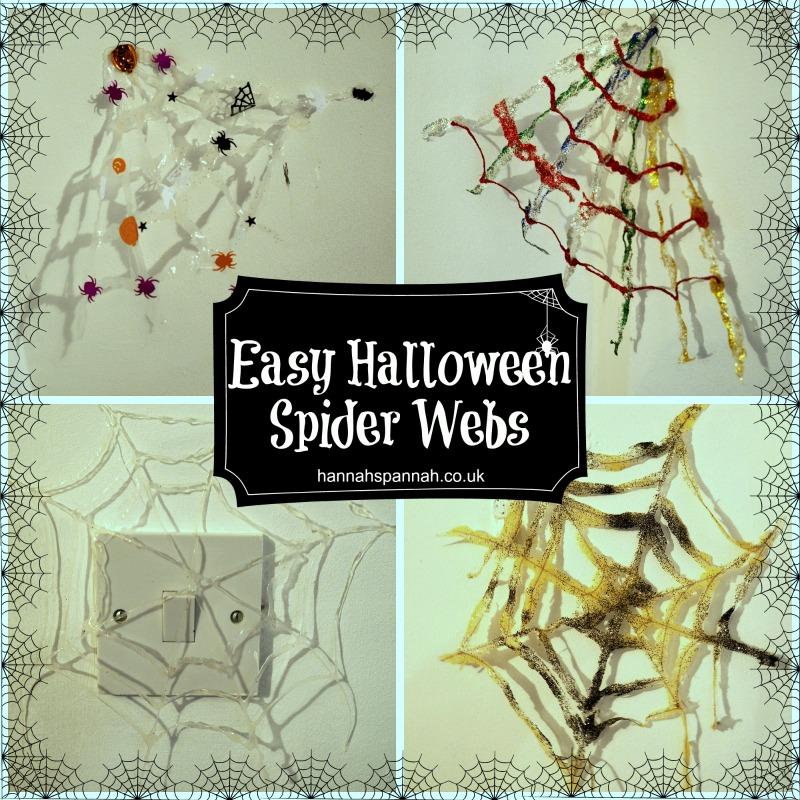 Halloween spiderweb craft