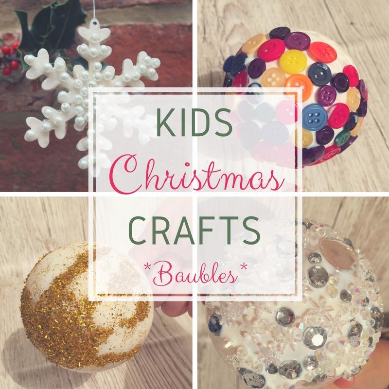 kids christmas crafts baubles handprints snowflakes