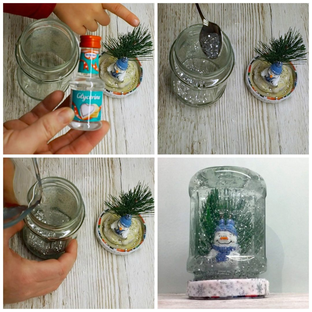 home made snow globe bostik bloggers