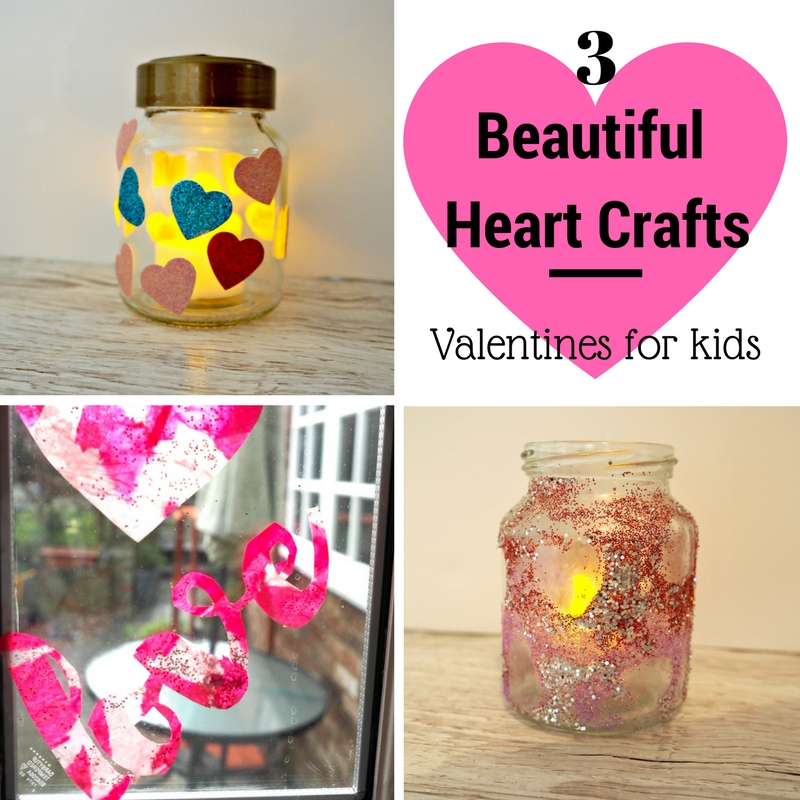 3 Beautiful Heart Crafts for you to make with your children to celebrate Valentines Day