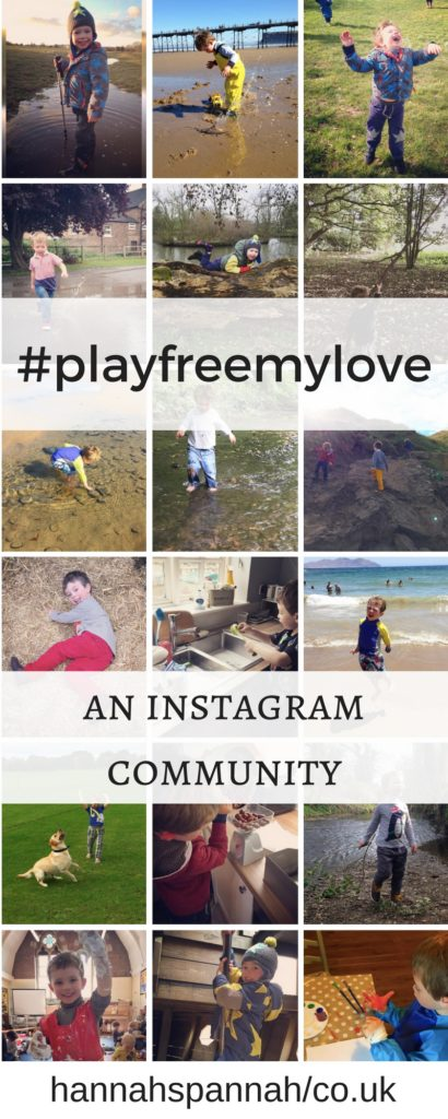 #playfreemylove is a wonderful instagram community, centred around allowing children to be play freely, be it inside, outside, crafting or imagination. Join us!