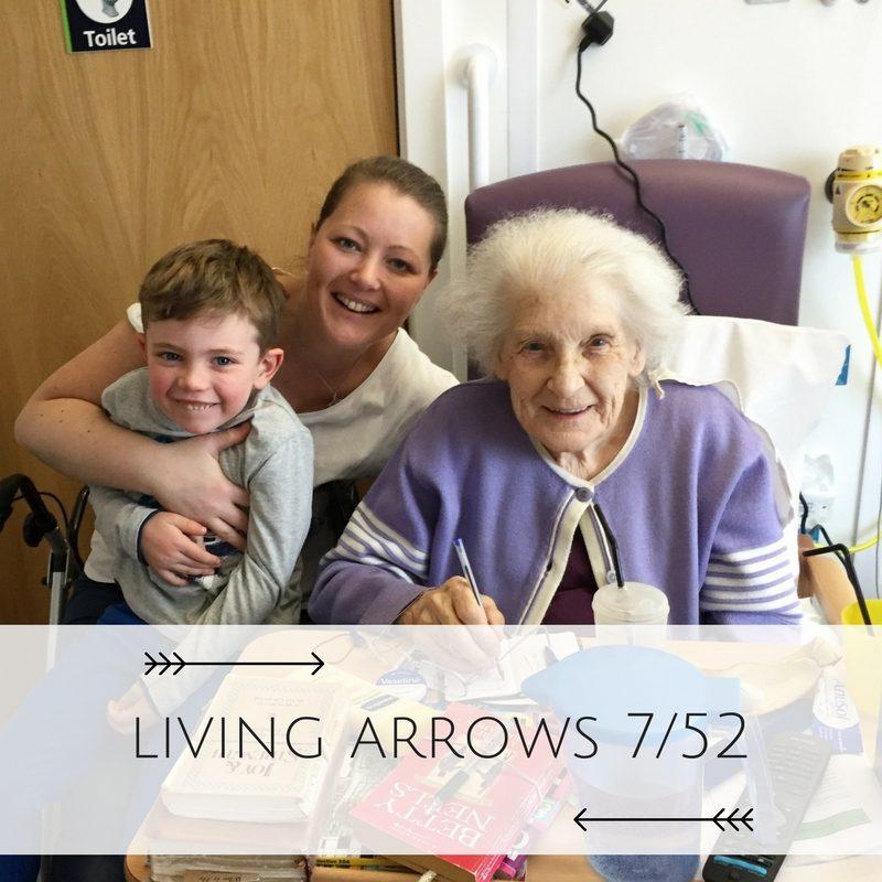 Visiting Great Grandma Living Arrows