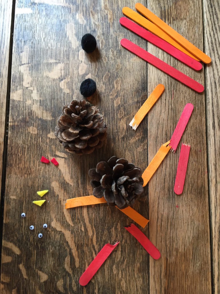How to make Easy, Cute Pine Cone Turkeys. Perfect for Fall and Thanksgiving decoration or just because!