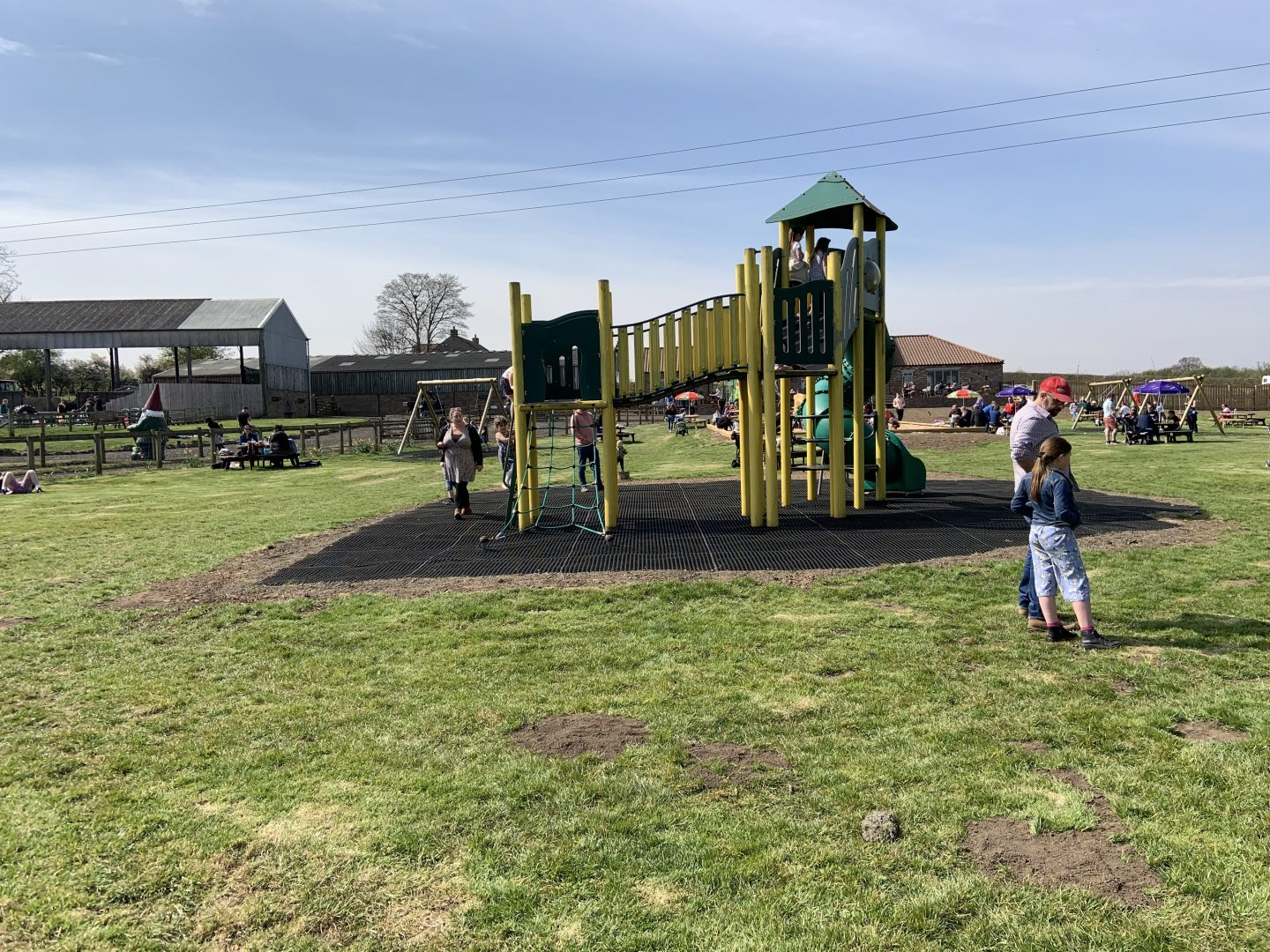 The climbing frame at Monk Park Farm